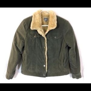 J.Jill corduroy medium green coat